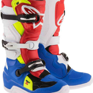 Stivali Alpinestars Youth Bambino Tech7s White Blue Red Yellow