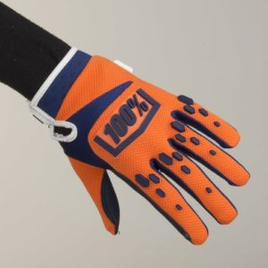 Guanti Cross 100% Airmatic Bambino Orange Arancio Blue Tg S