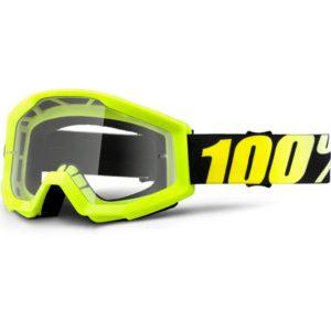 Mascherina Strata Neon Yellow Clear 100%