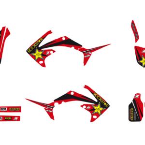 Kit Adesivi Rockstar Energy HONDA CRF 250 10-13 e 450 09-12 2142L