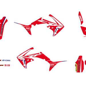 Kit Adesivi Replica Team HRC 2017 HONDA CRF 250 10-13 e 450 09-12 2142R17