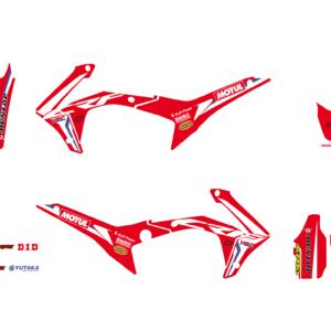 Kit Adesivi Replica Team HRC 2017 HONDA CRF 250 18-19 e 450 17-19 e 450 X 17-19 2145R17