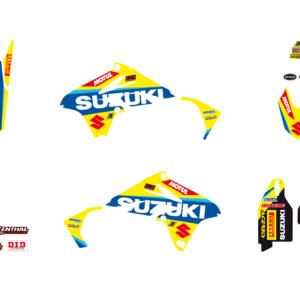 Kit Adesivi Replica Suzuki World MXGP 2017 SUZUKI RMZ 250 10-18