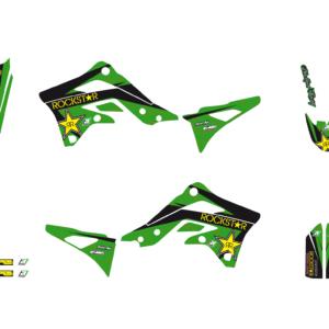 Kit Adesivi Rockstar Energy KAWASAKI KXF 450 12-152420L