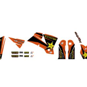 Kit Adesivi Rockstar Energy KTM SX 01-04 e EXC 03-04 2517L
