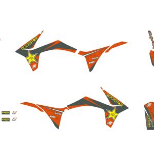 Kit Adesivi Rockstar Energy KTM SX-SXF 11-12 e EXC 12-13 2537L