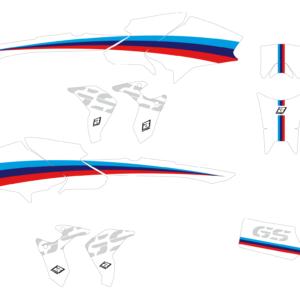 Kit Adesivi Classic Line BMW R1200 GS 14-18 e R1200 GS 19 2D07 00