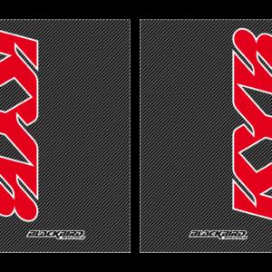 adesivi fodero forcella effetto carbonio Blackbird Kayaba colore effetto carbonio 5015K