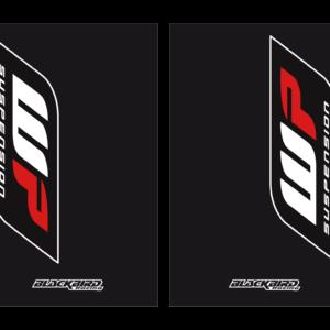 adesivi fodero forcella nero Blackbird Wp colore nero 5015W