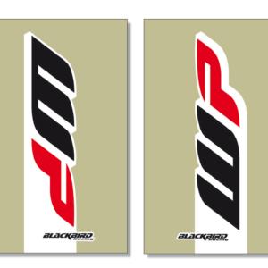 adesivi fodero forcella trasparente Blackbird Wp colore trasparente 5045W1