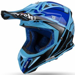 CASCO AIROH MOTO CROSS AVIATOR 2.2 2019 CHECK BLUE GLOSS AV22C18