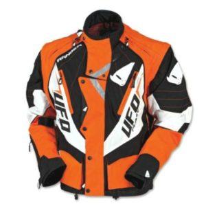 Giacca Cross Enduro Off Road Ranger Jacket Ufo Plast Arancione Nero Bianco TG M